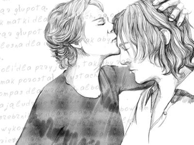 "Illustration for lyrics ""mothers kiss"""