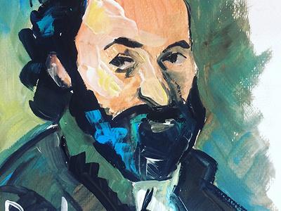 Paul Sezann acrylic impressionist paintig portret art