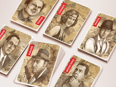"Playing card for party game ""Mafia"""