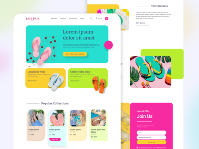 Colorful Company Website UI colorful ui colors ecommerce web design website concept web website modern ux design ux ui design