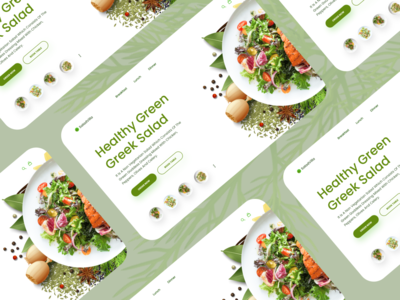 FOOD UI hero section hero header website concept web website minimal simplicity modern ux design ux ui design