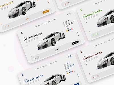Car landing UI landing page web web design website concept minimal simplicity modern ux design design ux ui