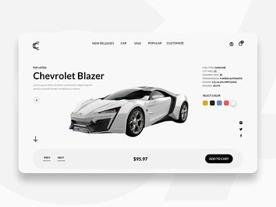Car landing header design header landingpage website concept website web minimal simplicity modern ux design design ux ui