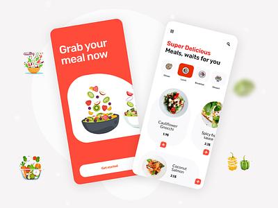 Food Delivery App food and drink delivery app food app ux food app ui food app app ux app ui design app ui app minimal simplicity modern ux design design ux ui