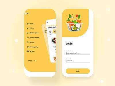 Food delivery app delivery app design delivery app food app design food app ui food app app ux app ui app minimal simplicity modern ux design design ux ui