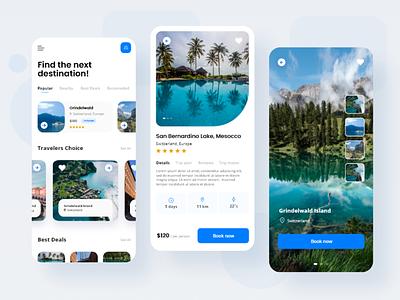 Travel app adobe xd traveling travel agency travel app travel 2021 design trends trending app ui design trend app ux app ui app minimal simplicity modern ux design ui design ux