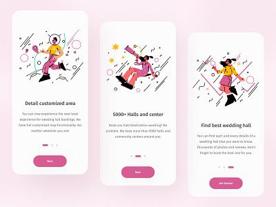 Wedding hall booking app note worthy popular best shots 2021 trend app concept wedding hall finder app booking app app ux app ui minimal simplicity modern design ux design ui ux