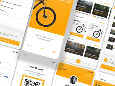WeBikers - Bike Rent Mobile App Ui kit Figma apps template ui web mobile app health exercise adventure mountain outdoor lifestyle sport ride bicycle bike