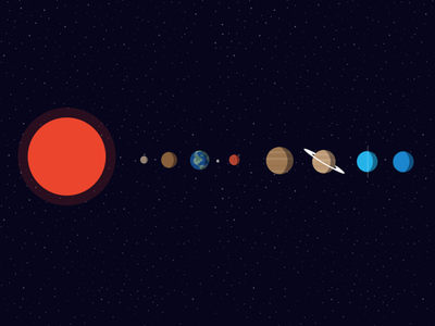 Solar System Icons space vector illustration mercury moon pluton saturn jupiter mars venus earth sun solar system