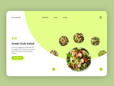 Diet Dishes website Concept food uiux ui website branding logo dashboad analytic illustrations