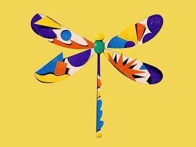 MQ Dragonfly logo austria vienna danieltriendl colors geometry art illustration dragonfly