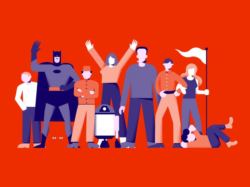 Votiv Kino DeFrance – Branding Illustration vienna austria illustration branding r2d2 batman celebrity character cinema triendl daniel