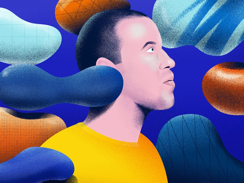 Mirko Borsche Portrait vienna austria triendl daniel digitalart vector portrait art portrait brainstorming graphicdesign