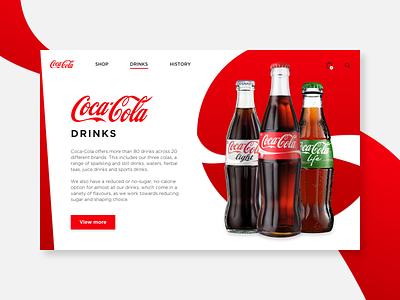 Coca Cola landing page cocacola branding 003 webdesign dailyui