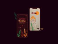 Meditation app concept vector illustration player application app design app ui figma