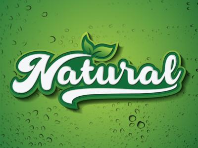 Typography Natural logo
