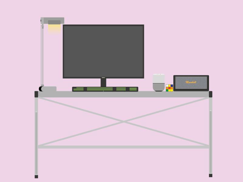 Office computer office design office ui flatdesign minimalist vector illustrator illustration design