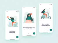 Onboarding illustrations for the delivery application