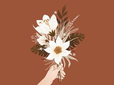 Azalée bouquet plant illustrator art digital fleurs botanic flowers instagram illustration
