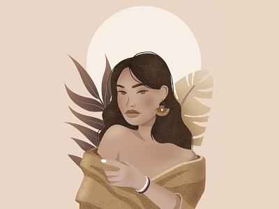 Moana draw dessin girl character design portrait women woman illustrator illustration illu