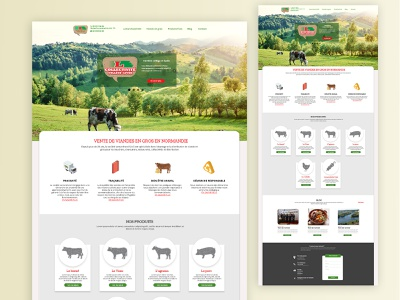 Showcase Website for Lemarchand SAS wholesale meat ui web design