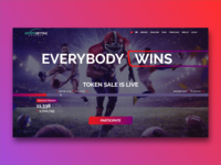 Landing Page for a betting startup