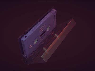 A Gap Between tape cassette 3D model a gap between 3d cinema 4d c4d photoshop retro tape cassette electronic music motion graphics animation after effects adobe