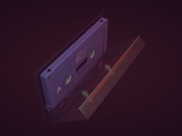 A Gap Between tape cassette 3D model