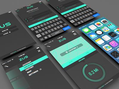 Zus - Mobile App Ui Screens multidisciplinary colorcubic mobile app design ios interactive media branding uiux design ui mobile app find parking zus