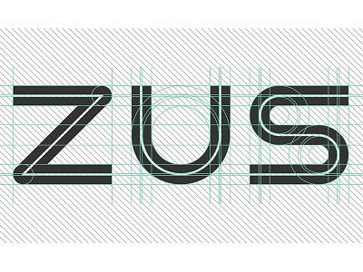Zus - Custom Logotype multidisciplinary colorcubic mobile app design ios interactive media branding uiux design ui custom logotype typography parking app zus