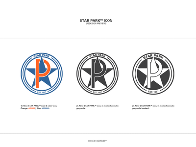 Star Park Logo Redesign oregon portland colorcubic branding iconography logotype custom icon logo redesign logo star park
