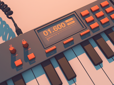 Colorcubic Emul8R synth mockup typography illustration graphic design colorcubic after effects photoshop adobe synth c4d cinema 4d 3d model 3d