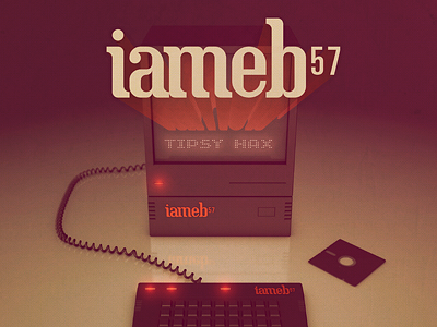 Album art for iameb 57's new album music album cover songs tunes iameb 57 nueva forma colorcubic electronica 3d render retro computer tech keyboard floppy