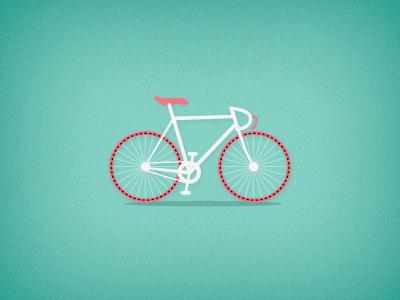 Manuelita Bike illustration icon flat bike bicycle biker races street wheels ckrauss elkaniho design