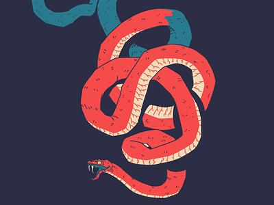 Snake Pussel ckrauss illustration animal sin fangs serpent snake