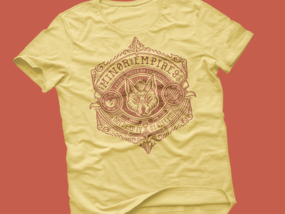 Minor Empires Tour Tee band tshirt icon iconic wolf unted states of emergency heraldry minor empires
