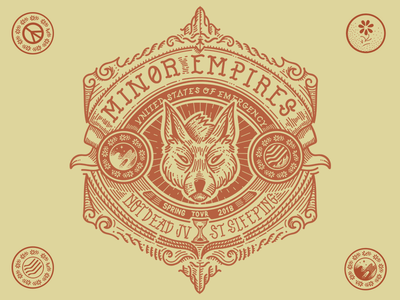 Minor Empires Tour Tee design band tshirt icon iconic wolf unted states of emergency heraldry minor empires