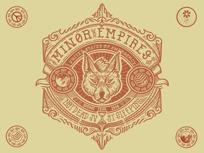 Minor Empires Tour Tee design