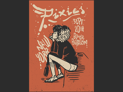 Where is my mind? gig postpunk punk bower ballroom new york poster pixies