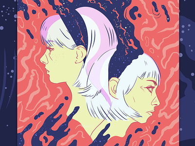 Dreyma Poster - Come Dance With Me illustration gig poster floyd girls music band dreyma