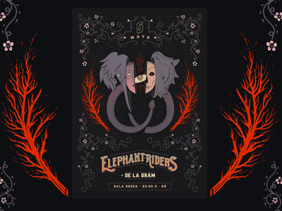 Elephant Riders Poster