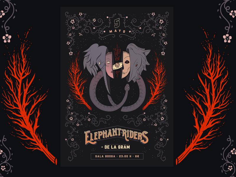 Elephant Riders Poster