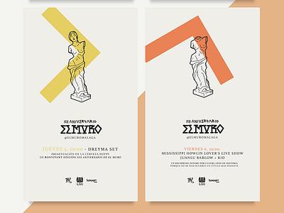 El Muro IIII Anniversary . 3 anniversary poster illustration design