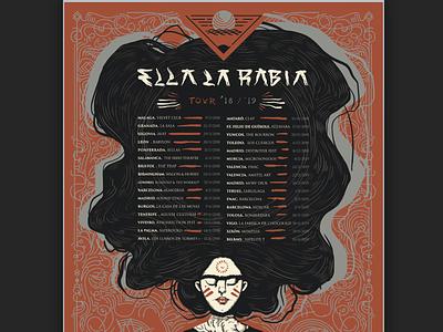 ELR - Tour Poster illustration design gran canaria canary islands island rock band tour poster poster art