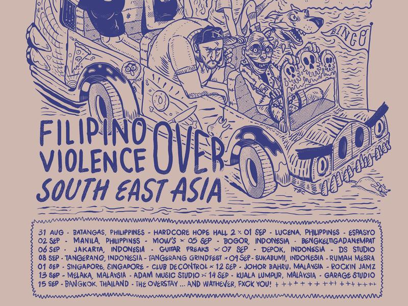 TEETHING - South Asia Tour Poster I