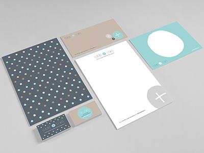 Scribe & Lewis Identity logo design branding stationery