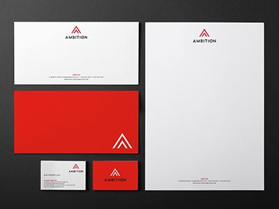 Ambition Stationery stationery design brand identity