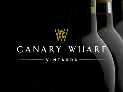 Canary Wharf Vintners Logo logo company wine investment