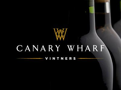 Canary Wharf Vintners Logo logo company wine investment