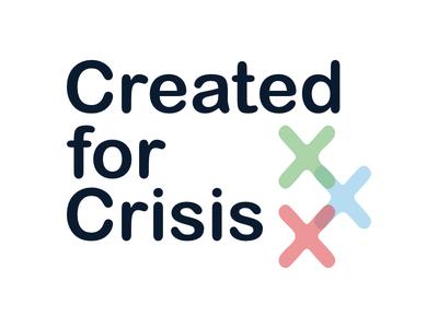 Logo Design for Created for Crisis coronavirus nonprofit covid nonprofit nonprofit design arial rounded rgb pastels branding design logo design created for crisis